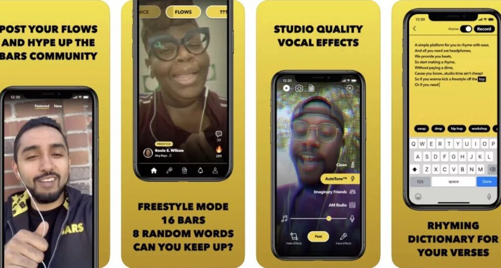 Facebook has launched an app like TikTok to create and share rap songs BARS 3